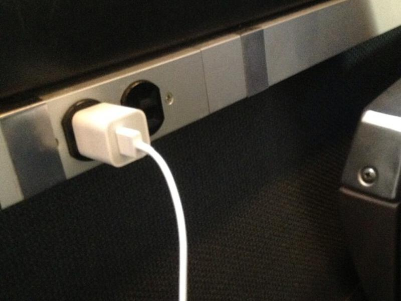 amtrak power outlet