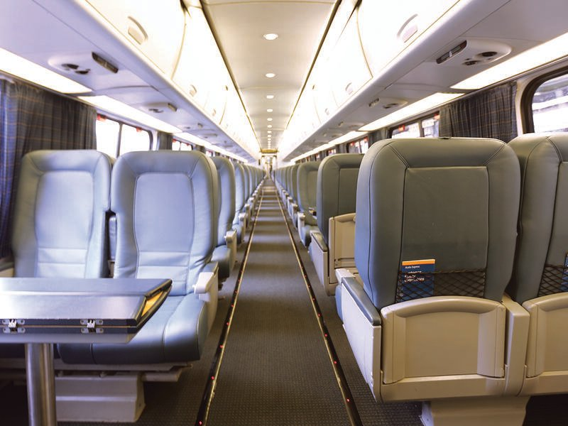acela train interior